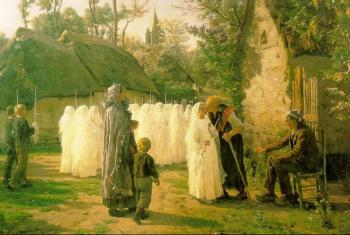 Jules Breton : The Communicants
